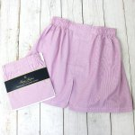Brooks Brothers『ブロード ボクサーショーツ Traditional Fit』(Dk Pink Grnd Hairline Stripe)