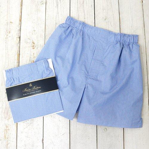 Brooks Brothers『ボクサーショーツ Slim Fit』(Mini Check L.Blue)