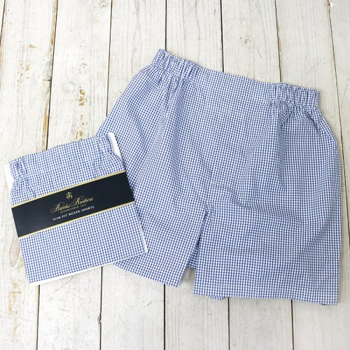 Brooks Brothers『ボクサーショーツ Slim Fit』(Small Check Blue)
