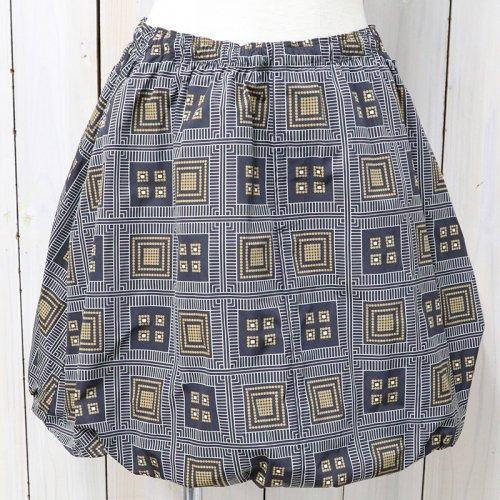 【会員様限定SALE】Needles『Warm-up Balloon Skirt-Poly Taffeta』(Navy)