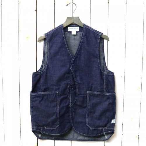 『FALL LEAF GARDENER VEST(8oz DENIM)』(INDIGO)