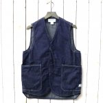 SASSAFRAS『FALL LEAF GARDENER VEST(8oz DENIM)』(INDIGO)