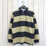 THE NORTH FACE PURPLE LABEL『L/S Rugby Shirt』(Black×Beige)