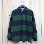 THE NORTH FACE PURPLE LABEL『L/S Rugby Shirt』(Navy×Green)