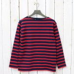 SAINT JAMES『OUESSANT SWEAT』(NAVY/ROUGE)