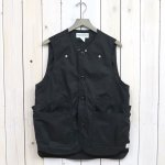 SASSAFRAS『WHOLE HOLE VEST(POPLIN/NYLON TAFFETA)』(BLACK)