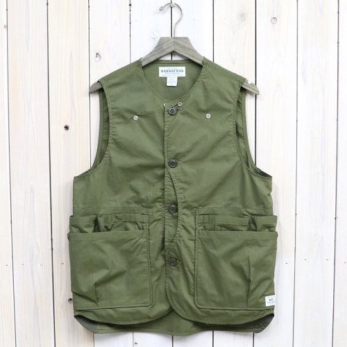 『WHOLE HOLE VEST(POPLIN/NYLON TAFFETA)』(OLIVE)