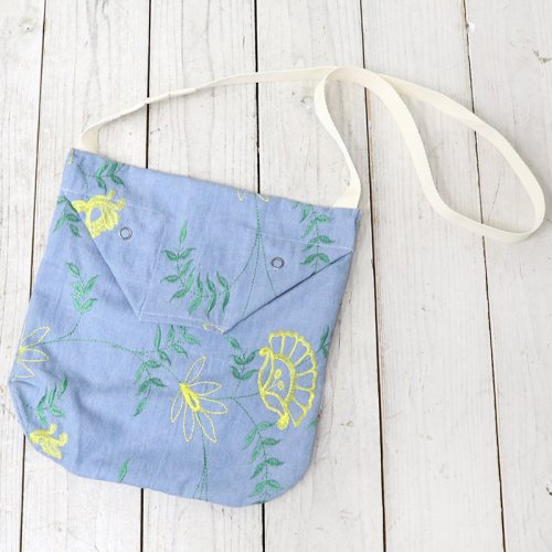 ENGINEERED GARMENTS『Shoulder Pouch-Denim Floral Embroidery』