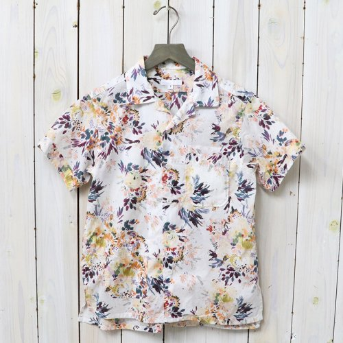 ENGINEERED GARMENTS『Camp Shirt-Botany Printed Lawn』(White)