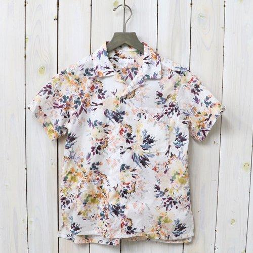 【会員様限定SALE】ENGINEERED GARMENTS『Camp Shirt-Botany Printed Lawn』(White)