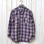 ENGINEERED GARMENTS『Work Shirt-Plaid Poplin』(Navy/White/Red)