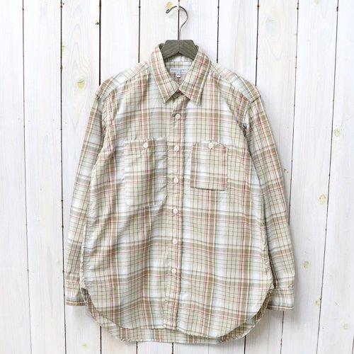 『Work Shirt-Plaid Poplin』(Tan/Red/Turquoise)