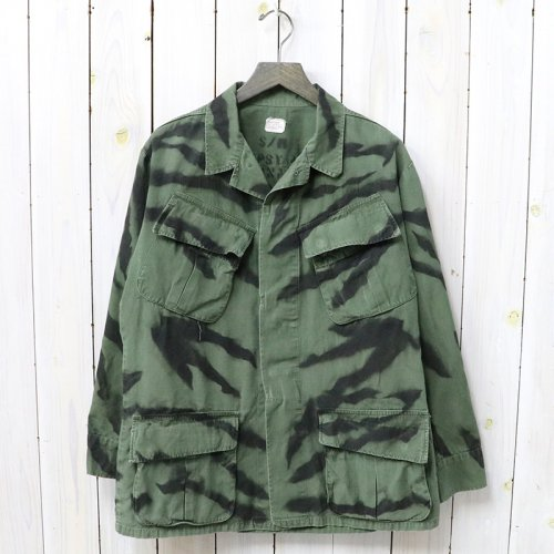 SHANANA MIL『GYPSY TIGER STRIPE HAND STENCIL JANGLE FATIGUE JACKET』(S-Regular/B)