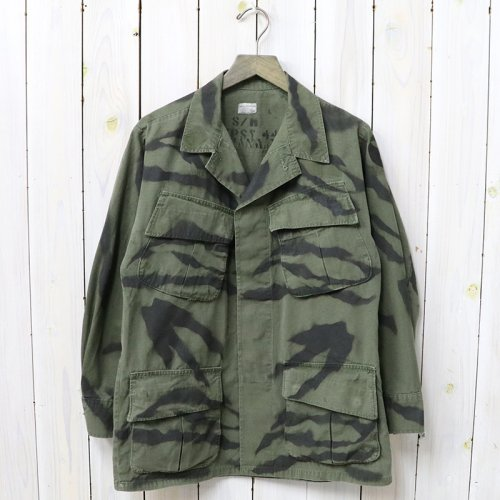 SHANANA MIL『GYPSY TIGER STRIPE HAND STENCIL JANGLE FATIGUE JACKET』(S-Regular/C)