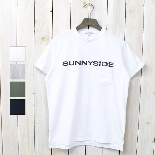 『Printed Cross Crew Neck T-shirt-Sunnyside』