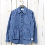 SASSAFRAS『DIGS CREW HALF(5oz CHAMBRAY)』(BLUE)