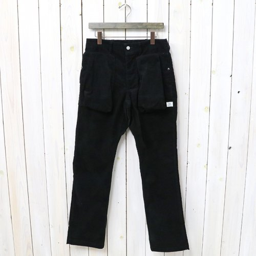 SASSAFRAS『DIGS CREW PANTS(SUMMER CORDUROY)』(BLACK)