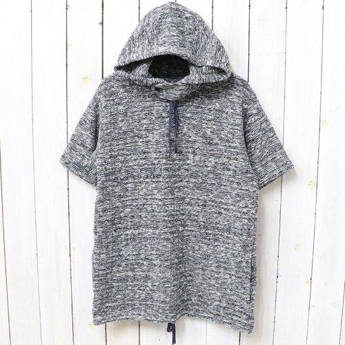 『Short Sleeve Hoody-Heather Sweater Knit』(Navy)