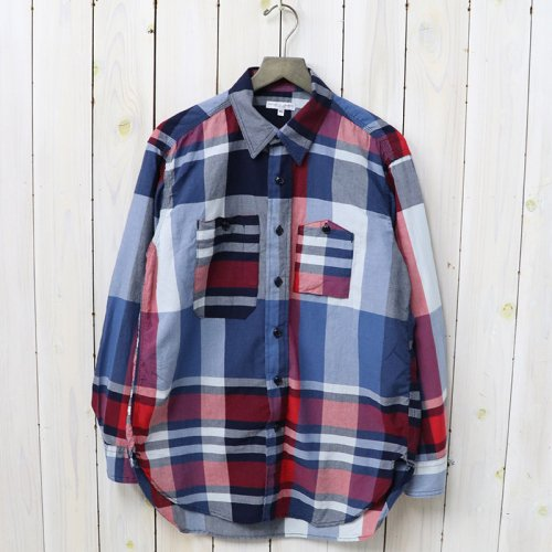 『Work Shirt-Big Madras Plaid』(Navy/Red)