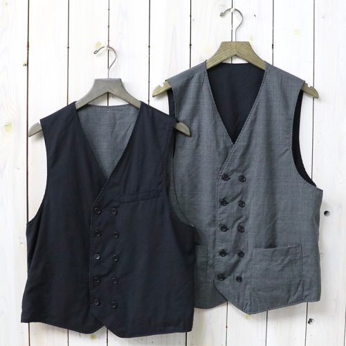 『Reversible Vest-Tropical Wool & Glen Plaid』