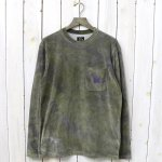 Needles『L/S Crew Neck Tee-C/Poly Velour/Uneven Dye』