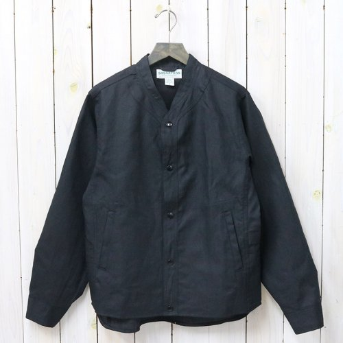 SASSAFRAS『VASE WALL JACKET(5.5oz C/L OXFORD)』(BLACK)