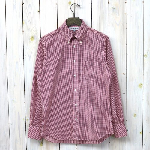 【SALE特価40%off】INDIVIDUALIZED SHIRTS『SMALL GINGHAM CHECK』(RED)