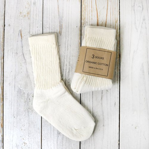 『ORGANIC COTTON SOCKS 3PACKS』