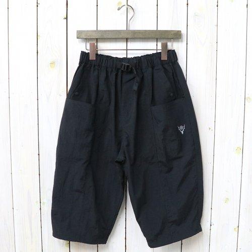 【会員様限定SALE】SOUTH2 WEST8『Belted Center Seam Three-quater Pant-Nylon Tussore』(Black)