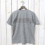 Kaptain Sunshine『Weat Coast Tee』(Feather Grey/Light Grey Line)