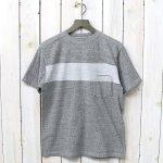 Kaptain Sunshine『Weat Coast Tee』(Feather Grey/White Line)