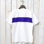 Kaptain Sunshine『Weat Coast Tee』(White/Navy Blue Line)