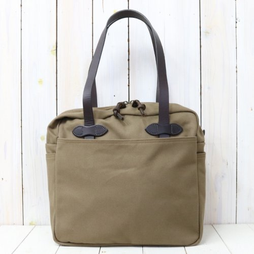 FILSON『TOTE BAG WITH ZIPPER』(BROWN)