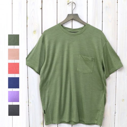 icebreaker『M NATURE DYED SS POCKET CREWE』