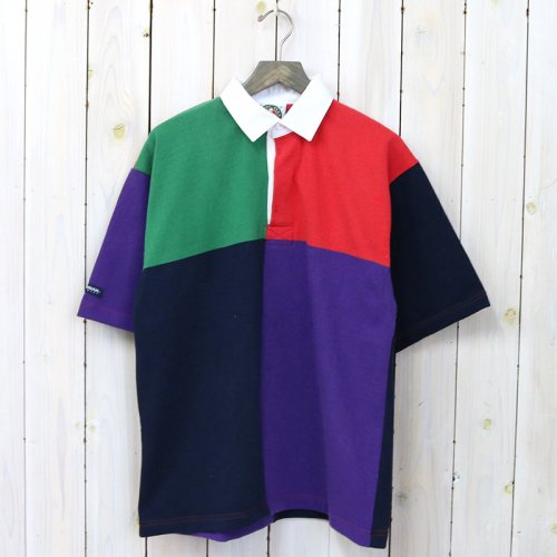 【SALE特価40%off】BARBARIAN『HEAVY WEIGHT RUGBY SHIRTS S/S』(PINE/RED/NAVY/PURPLE)