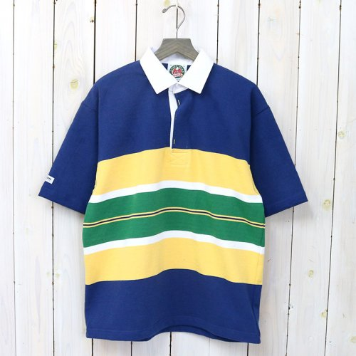 BARBARIAN『HEAVY WEIGHT RUGBY SHIRTS S/S』(DEEP OCEAN/YELLOW/WHITE/PINE)