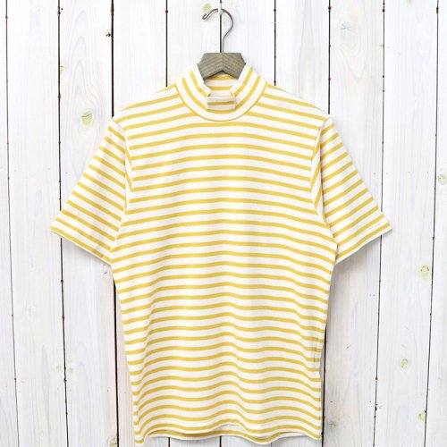 『MOCK NECK TEE S/S HORIZONTAL STRIPE』(Yellow)
