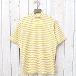 ANATOMICA『MOCK NECK TEE S/S HORIZONTAL STRIPE』(Yellow)