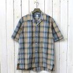 Kaptain Sunshine『Open Collar S/S Shirt』(Beige Plide)