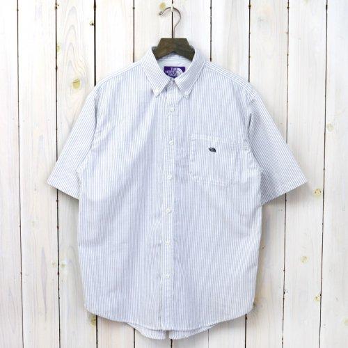 『Stripe OX B.D. Big H/S Shirt』(Gray)