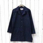 ENGINEERED GARMENTS WORKADAY『Shop Coat-Cotton Reversed Sateen』(Dk.Navy)