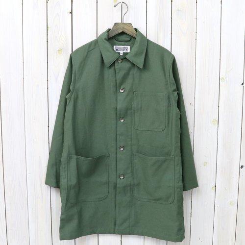 『Shop Coat-Cotton Reversed Sateen』(Olive)