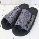 Suicoke Purple Label『Elastic Strap Sandal w/A-B Vibram-Python Embossed』(Grey)