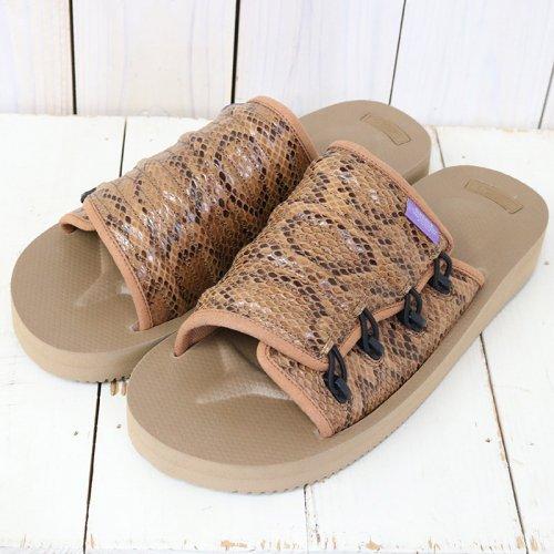 Suicoke Purple Label『Elastic Strap Sandal w/A-B Vibram-Python Embossed』(Brown)