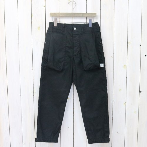 SASSAFRAS『DIGS CREW PANTS 4/5(DUCK)』(BLACK)