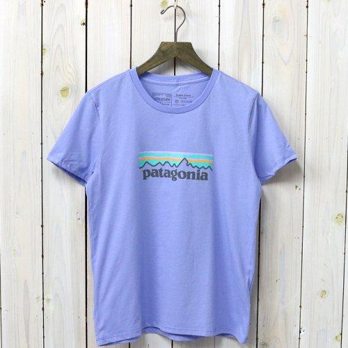 patagonia『W's Pastel P-6 Logo Organic Crew T-Shirt』(Light Violet Blue)