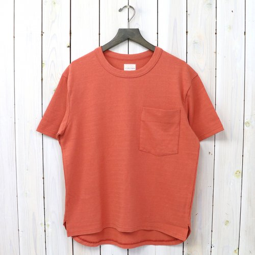 CURLY『AZTEC CN POCKET TEE』(INK RED)