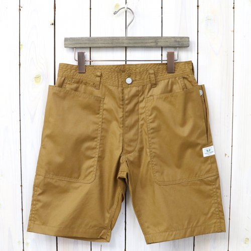 SASSAFRAS『FLOWER BUD PANTS 1/2(CRUISER CLOTH)』(BROWN)