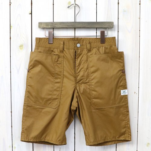 SASSAFRAS『FALL LEAF PANTS 1/2(CRUISER CLOTH)』(BROWN)