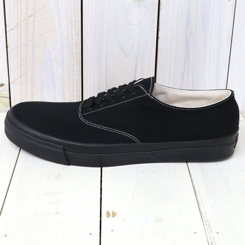 『WAKOUWA DECK SHOES LOW BLACK SOLE』(BLACK)